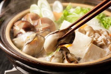 牡蠣鍋 Oyster hot pot
