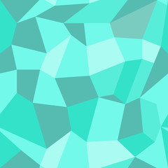 Abstract vector seamless geometric pattern in polygonal style in mint color. Background with polygons. EPS10. Can be used as print on cover or cloth, backdrop for banner.