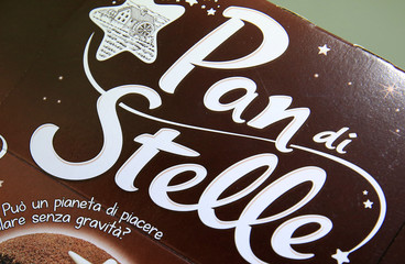 """Pan di Stelle"" chocolate cake package is displayed in this picture illustration"