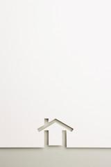 background of minimal house on gray border