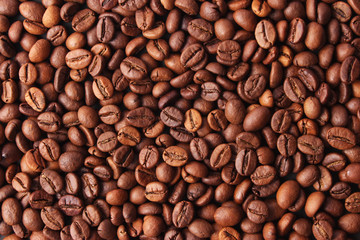 Background of coffee beans.