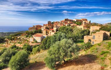 Mountain village Pigna (Corsica)