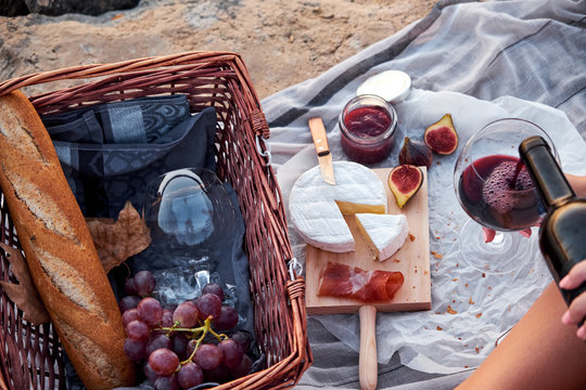 Romatic picnic on the beach