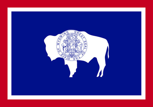 Wyoming vector flag. Vector illustration. United States of America.