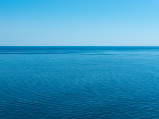 background of sea with blue sky