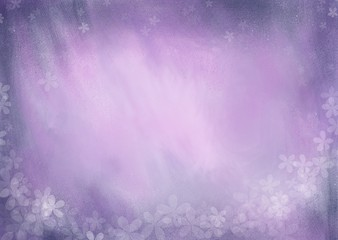 abstract background with flowers purple blue
