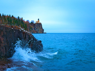 Split Rock Lighthouse on the north shore of Lake Superior near Duluth and Two Harbors, Minnesota