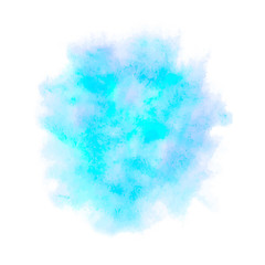 Colorful abstract vector background. Soft blue watercolor stain.