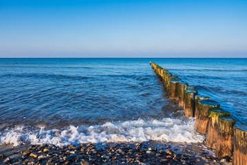 Fototapete - Strand an der Ostseeküste bei Graal Müritz