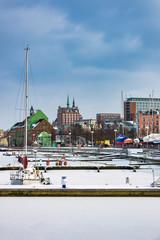 Winter im Stadthafen in Rostock