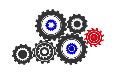 Conceptual idea of the theme of a single mechanism