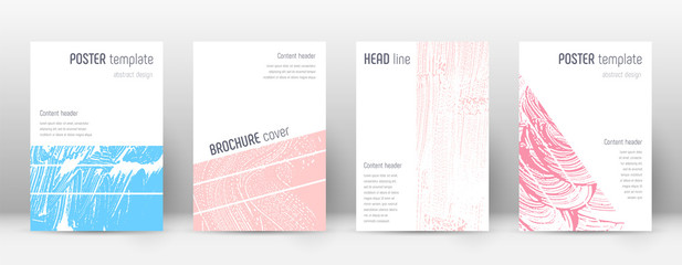 Keuken foto achterwand Abstract wave Cover page design template. Geometric brochure lay