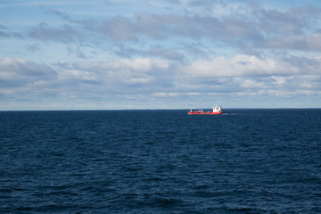 Cargo ship on the baltic