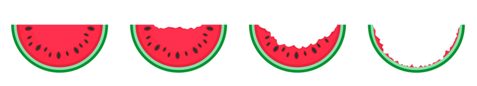 Cut Watermelon set