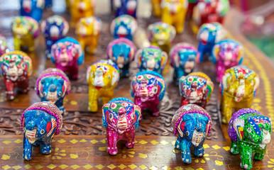 Ceramic decorative figures of the Indian elephant.