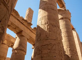 Pillars of the Great Hypostyle Hall in Karnak Temple, Egypt