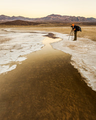 Photographer taking picture at Death Valley National Park