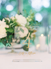 Keepsake on a table for a wedding reception