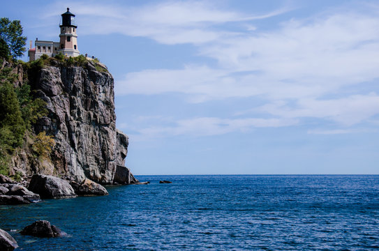 Split Rock Lighthouse on the north shore of Lake Superior in Northern Minnesota.