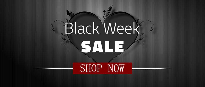 Black Week Sale Web Banner