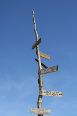 Rustic Sign Directional Post