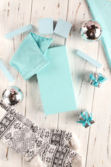 Christmas in turquoise color