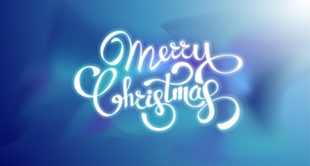 Merry Christmas greeting card. Vector colorful template