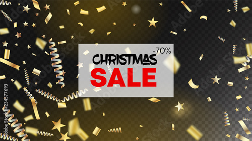 sale christmas confetti isolated invitation layout cool glamour christmas new year birthday party