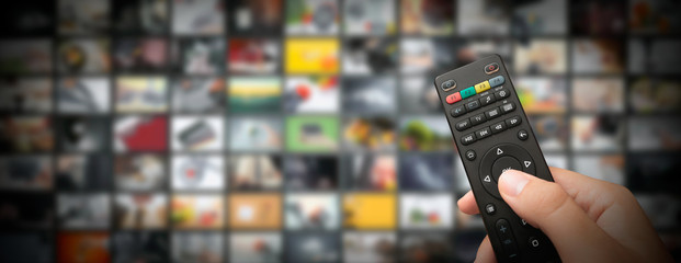 Television streaming video. Media TV on demand Wall mural