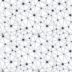 Black and white stars network seamless pattern. Great for space inspired wallpaper, backgrounds, invitations, packaging design projects. Surface pattern design.