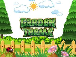 Garden theme concept scene