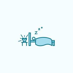 sleep away outline icon