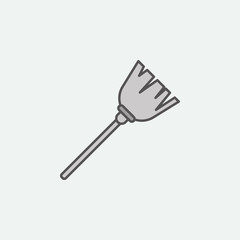 Halloween broom colored icon. One of the Halloween collection icons for websites, web design, mobile app