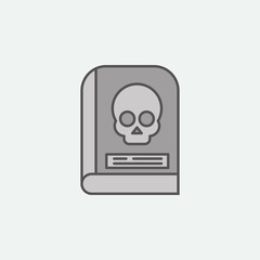 Ancient skull horror book  colored icon. One of the Halloween collection icons for websites, web design, mobile app