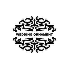 Wedding ornament vector template.