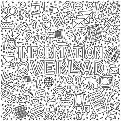 Informational overload illustration