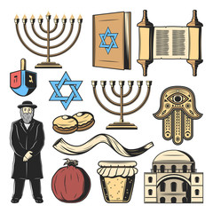 Jewish religion symbols, Israel culture tradition