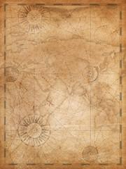 Deurstickers Wereldkaart Old world map in vintage style