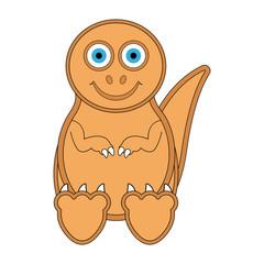 Cute dinosaur cartoon character. Vector illustration design