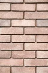 New bricks wall closeup
