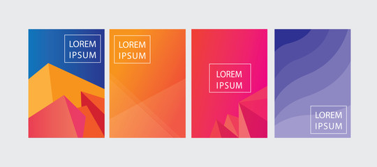 set of cover template design with abstract background