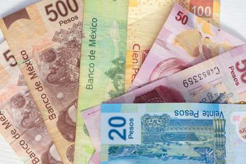 Mexican pesos bills