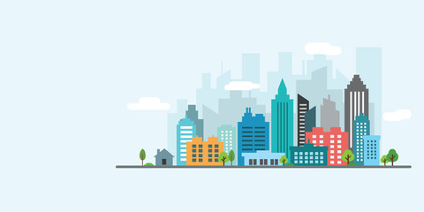 landscape city vector