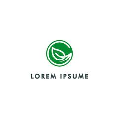 letter g, green nature logo template vector illustration