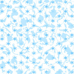 Vector seamless pattern with snowlakes. Christmas background