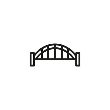 Sydney harbor bridge line icon. Building, industrial, modern. Architecture concept. Vector illustration can be used for topics like bridges, construction, architecture