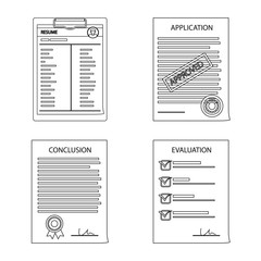 Isolated object of form and document logo. Collection of form and mark stock vector illustration.
