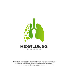 Hexagon Lungs logo designs vector, Lungs With Hexagon designs template logo