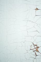 white cracked paint
