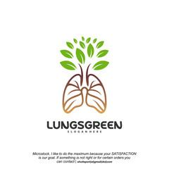 Lung care logo designs vector, Nature Lungs logo concept vector, Lungs Health logo template